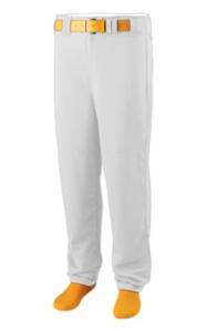 Open Bottom White Baseball Pants by Augusta